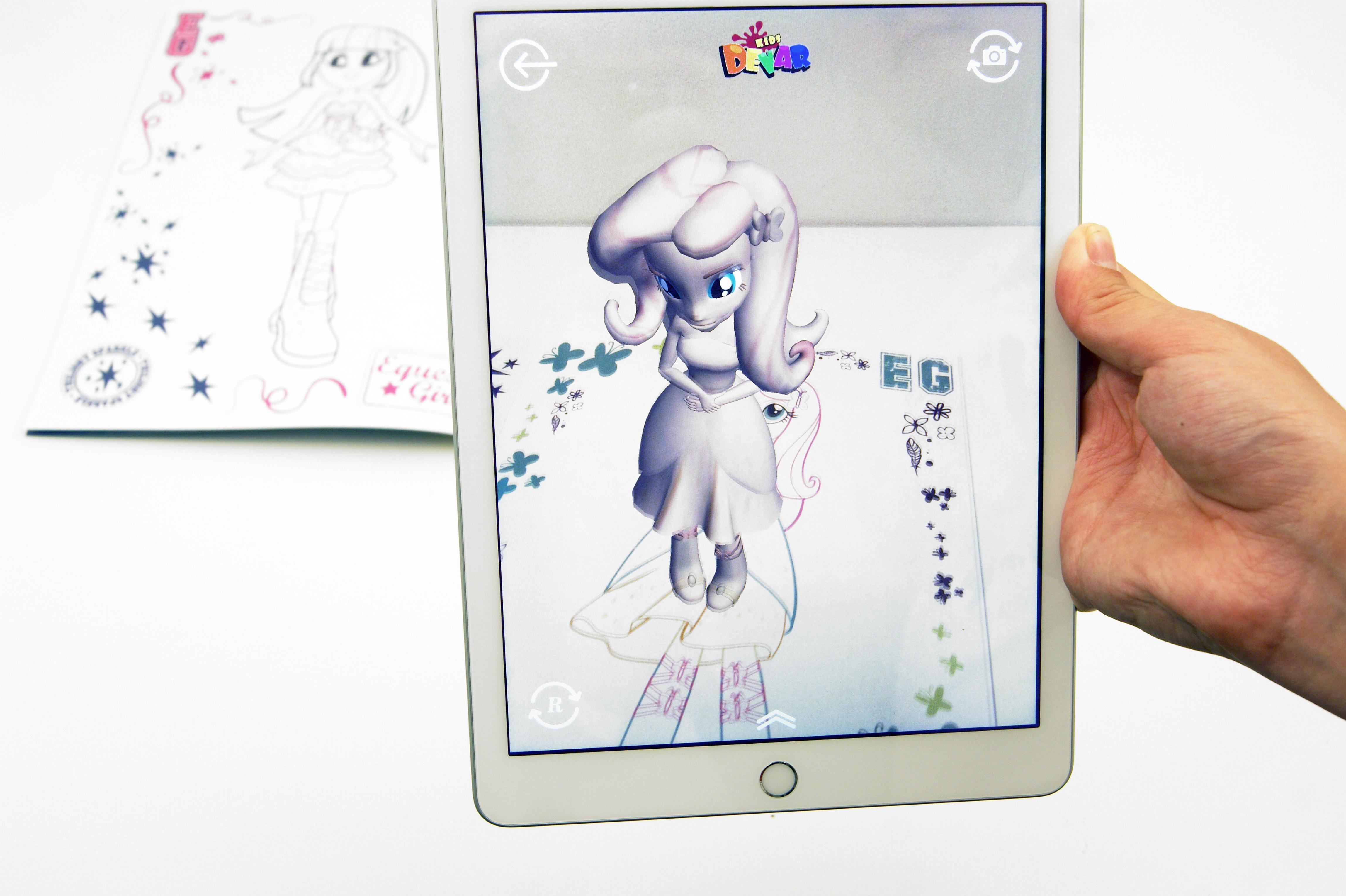 Живая раскраска «Мой маленький пони. Девочки из Эквестрии ...
