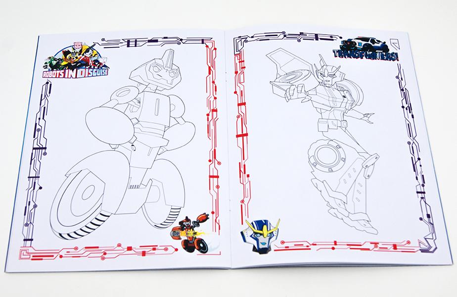 Живая раскраска «Трансформеры: Роботы под прикрытием»